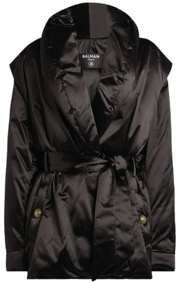 Balmain Satin Padded Coat