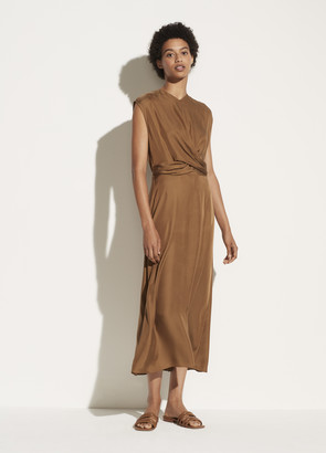 Vince Sleeveless Twist Front Dress
