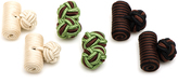 Ox and Bull Trading Co. Earth Tones Silk Knot Combo Cufflinks