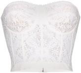 Alexander McQueen floral lace corset top