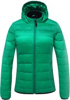 Generic Cordless 5V 2A Women's Heated Jacket Down Coat Use Power Bank (M)