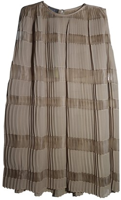 Roberta Furlanetto Ecru Silk Dress for Women