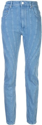 Thierry Mugler Panelled Tapered-Leg Jeans