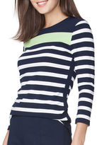 Chaps Petite Striped Jersey Tee