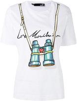 Love Moschino binocular print T-shirt - women - Cotton - 40