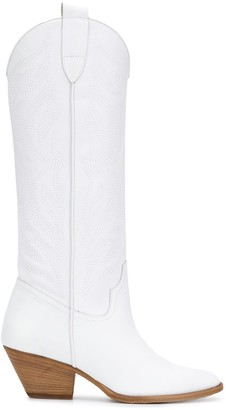 Pinko Knee-High Cowboy Boots