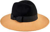 San Diego Hat Company Women's Color Blocked Fedora with Bow WFH8048