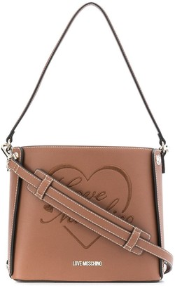 Love Moschino Logo Embroidered Tote Bag