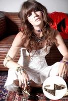 Vanessa Mooney Star Crossed Lover Cuff in Brass