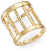 Vita Fede Classic Sparkle Barrel Ring/Goldtone