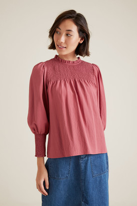 Seed Heritage Shirred Blouse