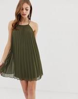 Asos Design DESIGN mini trapeze pleat dress