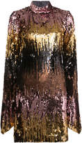 Christian Siriano all-over sequin dress with bell sleeves