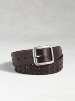 John Varvatos Leather Studded Belt