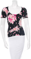 Blumarine Floral-Patterned Short Sleeve Top