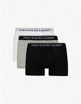 Polo Ralph Lauren Three pack logo–waistband trunks