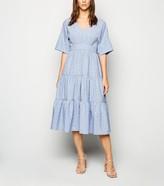 New Look Spot Tiered Midi Dress
