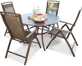 "Island Breeze 5-Pc. Dining Set (48"" Round Table & 4 Chairs), Quick Ship"