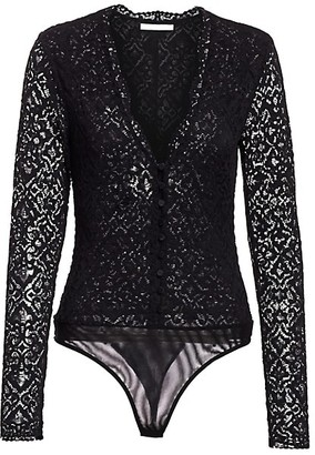 Jonathan Simkhai Lace Long-Sleeve Bodysuit