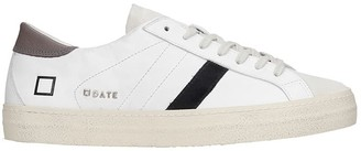 D.A.T.E Hill Low Sneakers In White Suede And Leather