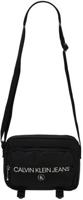 Calvin Klein Jeans Logo Print Recycled Nylon Crossbody Bag