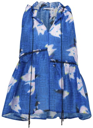 Dorothee Schumacher Blurry Flora Top in Blue Blurry Flora