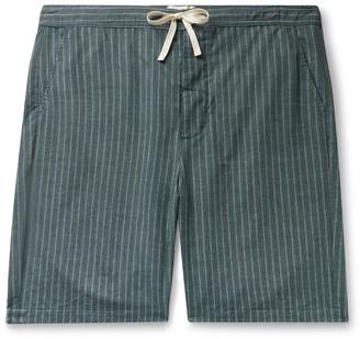 Oliver Spencer Loungewear Townsend Striped Organic Cotton Pyjama Shorts