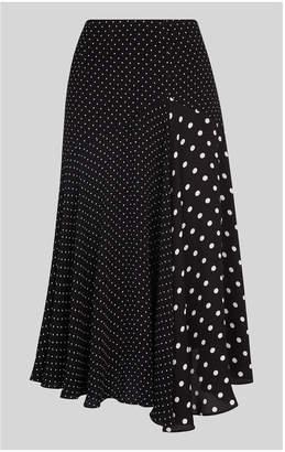 Whistles Spot Print Asymmetric Skirt
