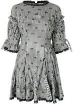 Jonathan Simkhai Smocked Gingham Relaxed Flare dress