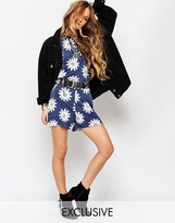Reclaimed Vintage Co-Ord Shorts With Oversized Daisy Print