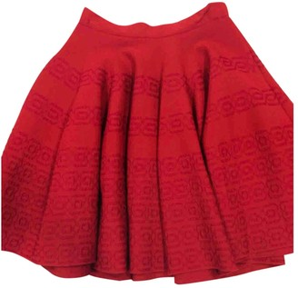 Alaia Red Silk Skirt for Women