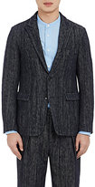 TOMORROWLAND MEN'S TWEED TWO-BUTTON SPORTCOAT-NAVY, WHITE SIZE 50 EU