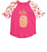 Hatley Toddler Girl's Tropical Pineapple Rashguard