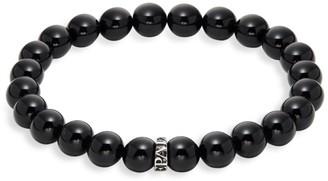 Perepaix Black Obsidian Beaded Bracelet