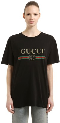 Gucci VINTAGE LOGO COTTON JERSEY T-SHIRT