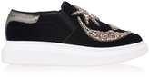 Alexander McQueen Crystal Embellished Velvet Sneakers
