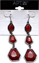 Apt. 9 Apt.9. Silver Simulated Tone Red Bead Dangle Earring