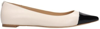 Michael Kors Carissa Ballet Flats In Beige Leather
