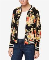 Sanctuary Cotton Floral-Print Bomber Jacket