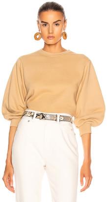 A Gold E Thora Sweatshirt in Noodle | FWRD