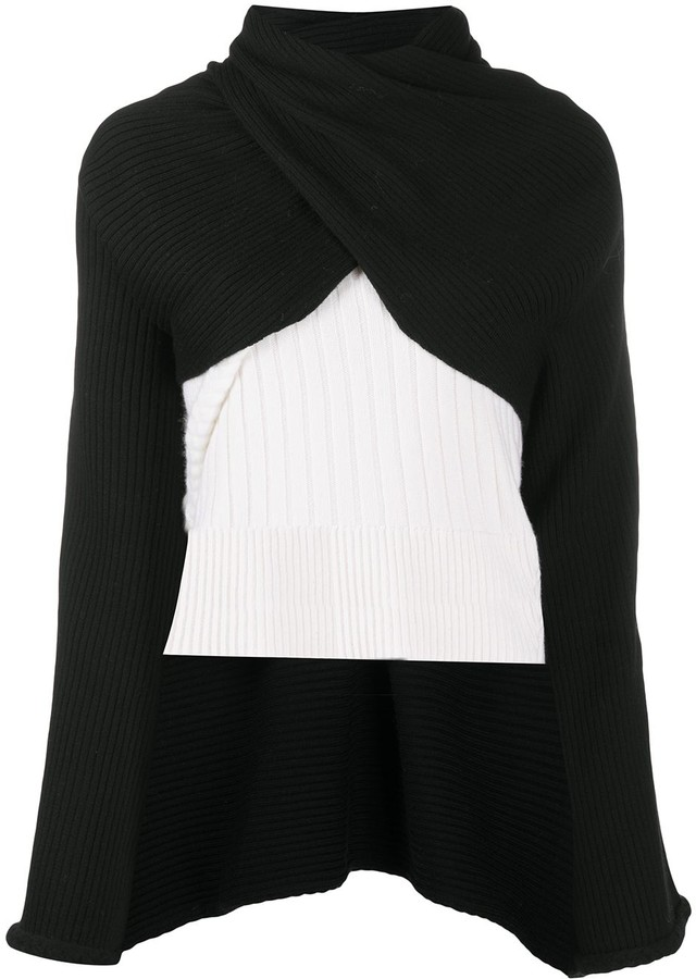 Ports 1961 Fully Fashioned turtle neck cape