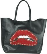 RED Valentino Red Mouth Shopping Bag