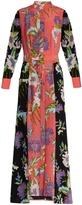 Diane von Furstenberg Contrast-panel silk crepe de Chine dress