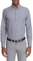 Canali Men's Trim Fit Plaid Sport Shirt