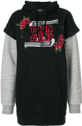 DSQUARED2 Twin Guns print hoodie