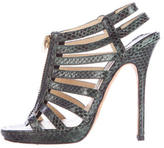Jimmy Choo Snakeskin Cage Sandals