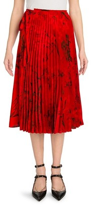 Valentino Pleated Wrap Skirt