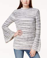 Kensie Bell-Sleeve Spacedye Sweater