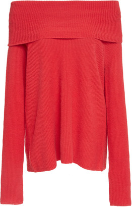 LAPOINTE Off-The-Shoulder Cashmere Sweater