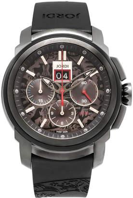 Michel Jordi 46mm Furka Titanium Chronograph Watch, Black
